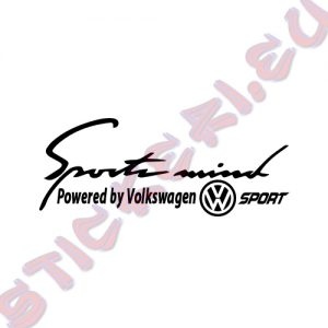 Стикер за кола Sports mind Volkswagen Sport