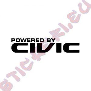 Стикер за автомобили Powered by Civic
