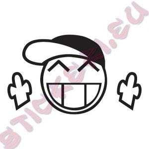 Стикер за автомобили Smiley Hat JDM